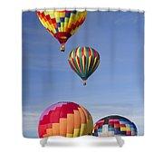 Hot Air Balloon Race Shower Curtain