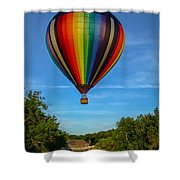 Hot Air Balloon Woodstock Vermont Shower Curtain by Edward Fielding