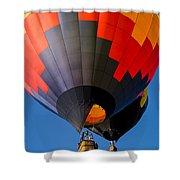 Hot Air Ballooning Shower Curtain by Edward Fielding