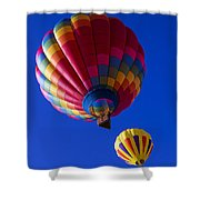Hot Air Ballooning Together Shower Curtain