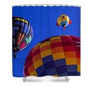 Hot Air Balloons Launch Shower Curtain