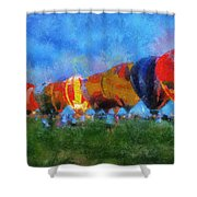 Hot Air Balloons Photo Art 01 Shower Curtain