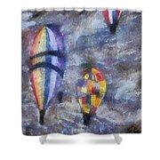 Hot Air Balloons Photo Art 02 Shower Curtain