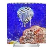 Hot Air Balloons Photo Art 04 Shower Curtain