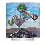 Hot Air Baloons Shower Curtain