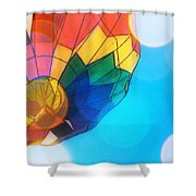 Hot Air Bokeh Shower Curtain