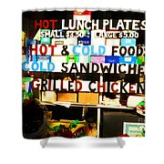 Hot And Cold Foods Shower Curtain