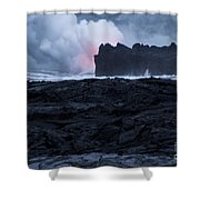 Hot And Cold Yields Steam And Smoke Shower Curtain
