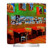 Hot Bar-glow Shower Curtain