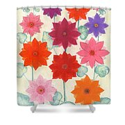 Hot Bloom Shower Curtain