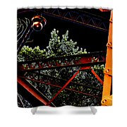 Hot Bridge At Night Shower Curtain
