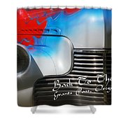 Hot Chevy Poster And Postcard Shower Curtain