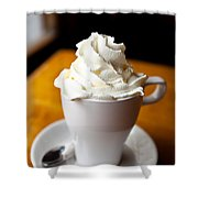 Hot Chocolate With Creme Chantilly Shower Curtain