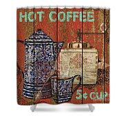 Hot Coffee Shower Curtain