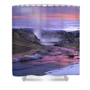 Hot Creek At Sunset Sierra Nevada Shower Curtain