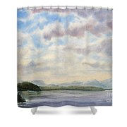 Hot Day In The Rockies Shower Curtain