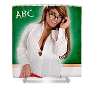 Hot For Teacher Shower Curtain