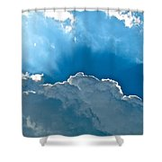 Hot Italian Clouds Shower Curtain