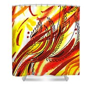 Hot Lines Twist Abstract Shower Curtain