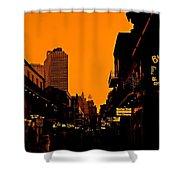 Hot Nights On Bourbon Street Shower Curtain