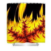 Hot Orange And Yellow Fractal Fire Shower Curtain