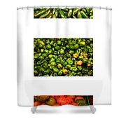 Hot Pepper Collage Shower Curtain