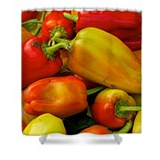 Hot Peppers Shower Curtain
