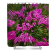 Hot Pink Flower Zoom Shower Curtain