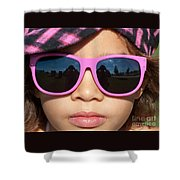 Hot Pink Sunglasses Shower Curtain