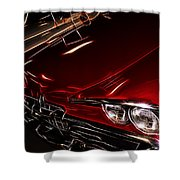 Hot Red Car  Shower Curtain