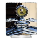 Hot Rod Car Instrument Detail Shower Curtain