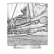 Hot Rod Exhausting Shower Curtain