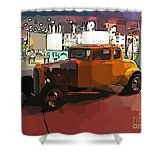 Hot Rod Icon Shower Curtain
