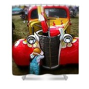Hot Rod Pickup Truck Shower Curtain
