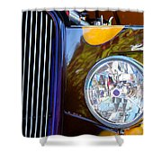 Hot Rod Show Car Light Shower Curtain