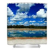 Hot Springs And Clouds Shower Curtain