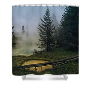 Hot Springs At West Thumb Shower Curtain