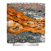 Hot Springs Mineral Flow Shower Curtain