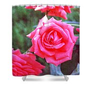 Hot Summer Bouquet Shower Curtain