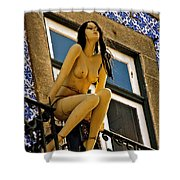 Hot Summer Day In Portugal Shower Curtain