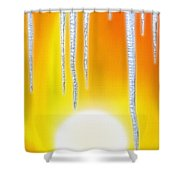 Hot Summer Sun W/ Icicles Shower Curtain