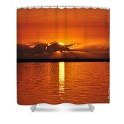 Hot Summer Sunrise  Shower Curtain