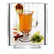 Hot Toddy Cocktail Marker Sketch Shower Curtain