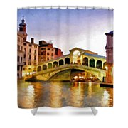 Hot Venetian Nights Shower Curtain