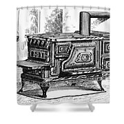 Hot Water Oven, 1875 Shower Curtain