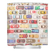 Hot Wheels Square Format Shower Curtain