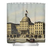 Hotel Burnet Circa 1850 Shower Curtain by Aged Pixel