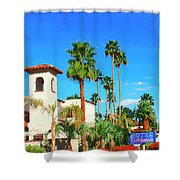 Hotel California Palm Springs Shower Curtain
