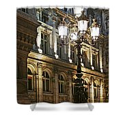 Hotel De Ville In Paris Shower Curtain