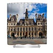 Hotel De Ville The Paris City Hall Shower Curtain